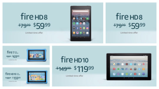 President's Day 2019 deal on Amazon Fire tablets - all models are included
