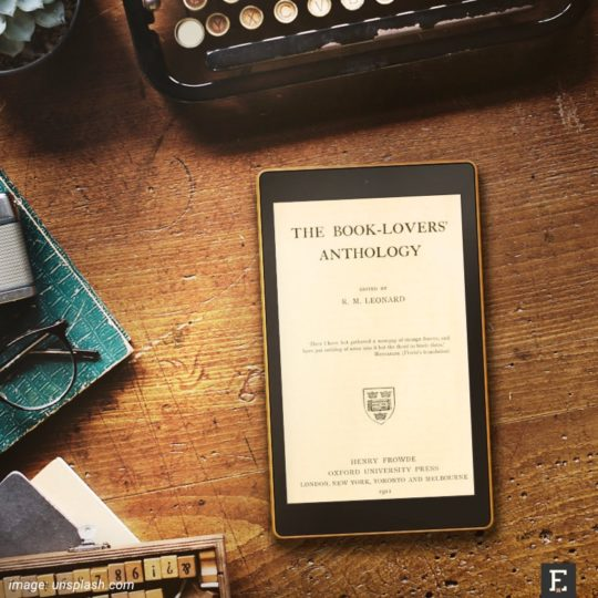 The Book Lovers' Anthology is 1911 book that's a fascinating collection of timeless quotes about books, reading, and libraries