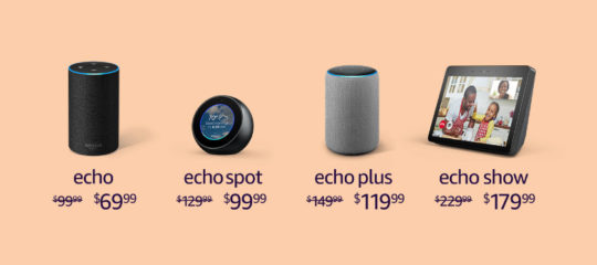 Valentine's Day 2019 deals on Amazon Echo smart speakers - bring audiobooks to every room!