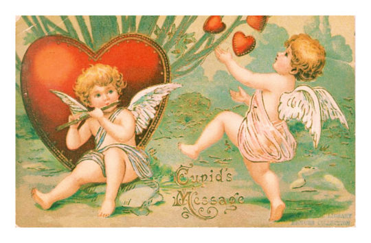 Vintage Valentine's Day cards to share instantly: Cupid's Message