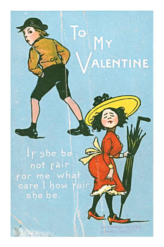 Retro Valentine's Day cards that you can send digitally: If she be not fair