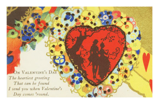 Vintage Valentine's Day cards to share via email or in social media: On Valentine's Day