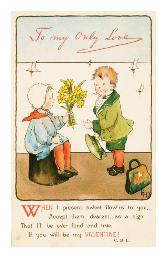 Vintage Valentine's Day cards to share instantly: To my Only Love
