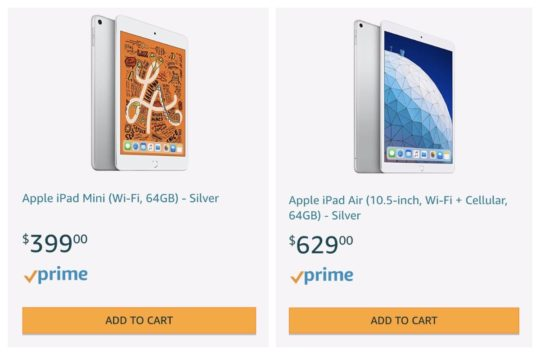 Apple iPad 2019 models - mini 4 and Air 3 - are already available on Amazon