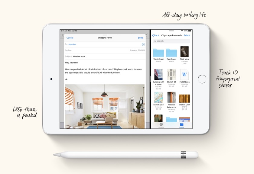 Apple iPad mini 5 comes with Touch ID and Apple Pencil 1 support