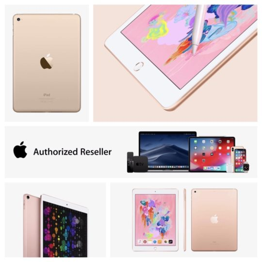 Apple iPad models in Gold and Rose Gold - price cuts in Amazon Authorized Reseller channel