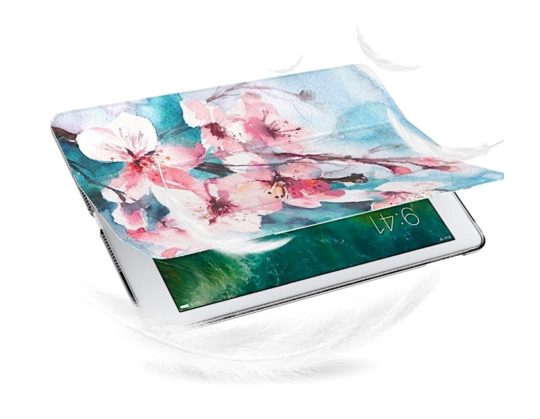 Best Apple iPad cases for girls - MoKo Floral Tri-fold Smart Cover
