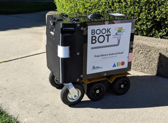 BookBot is a book pick-up device in Mountain View