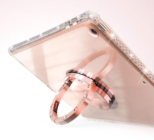 Diamond glitter kickstand case for Apple iPad 9.7