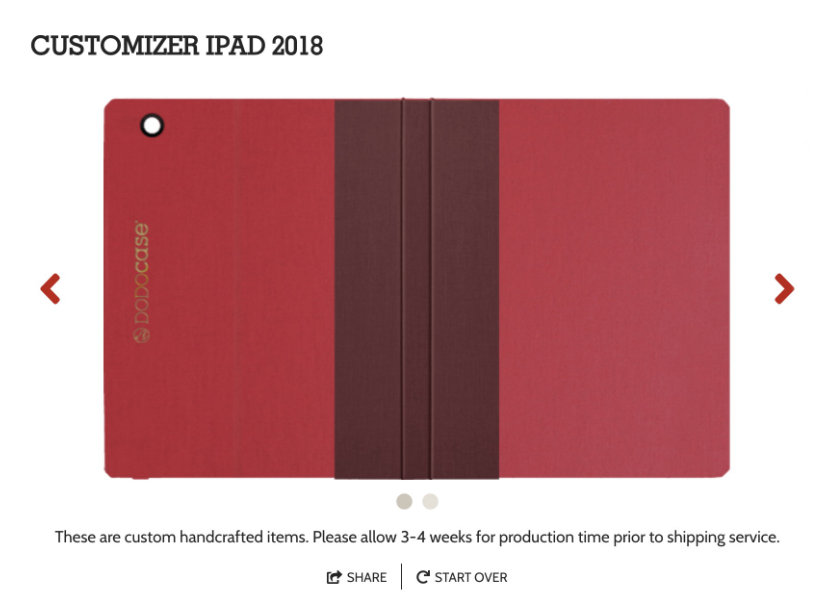 Dodomizer lets you choose the material color and design accents