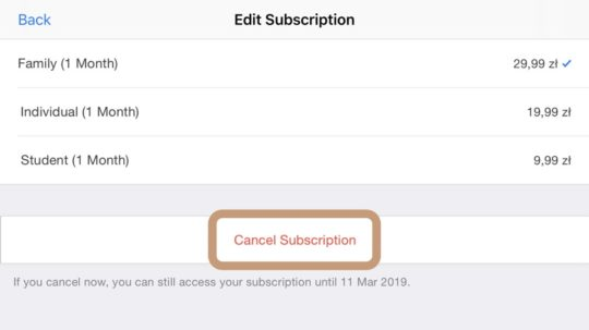 Easy way to cancel any iOS subscription