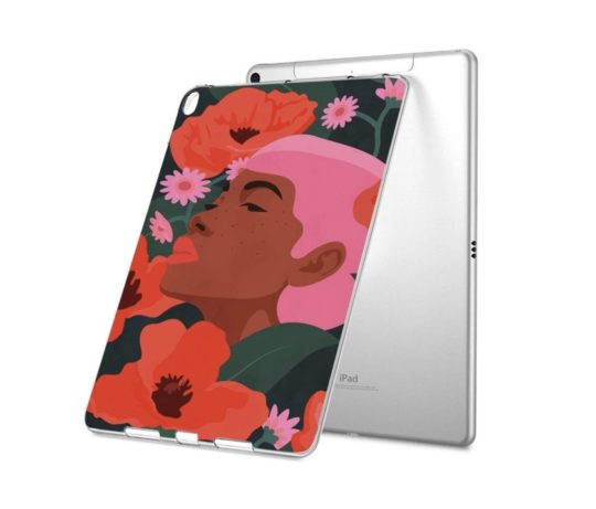 Freckle Girl Flower iPad 9.7 clear case