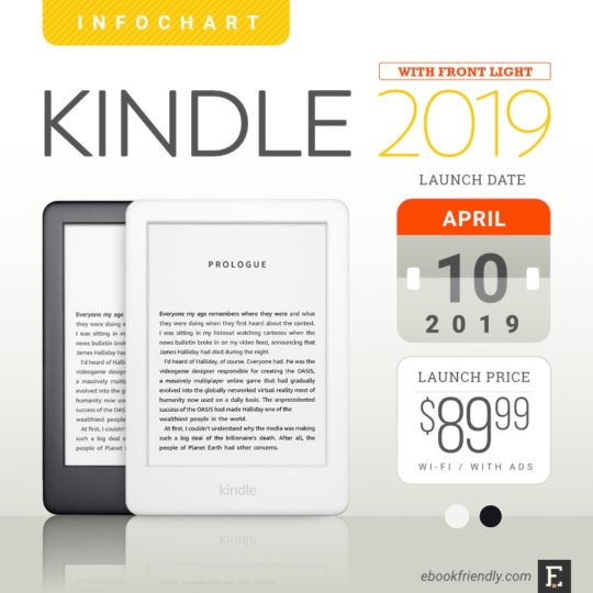 Kindle 2019 - feature round-up, tech specs, pics, comparisons, and more
