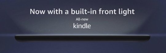 Kindle 2019 model comes with built-in adjustable light