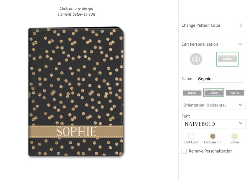 My Custom Case lets you easily create cute designs for your iPad folio case