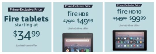 Prime-exclusive spring sale on Fire tablets and Fire bundles