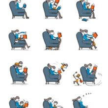 Reading together with a kid - a cartoon by Grant Snider