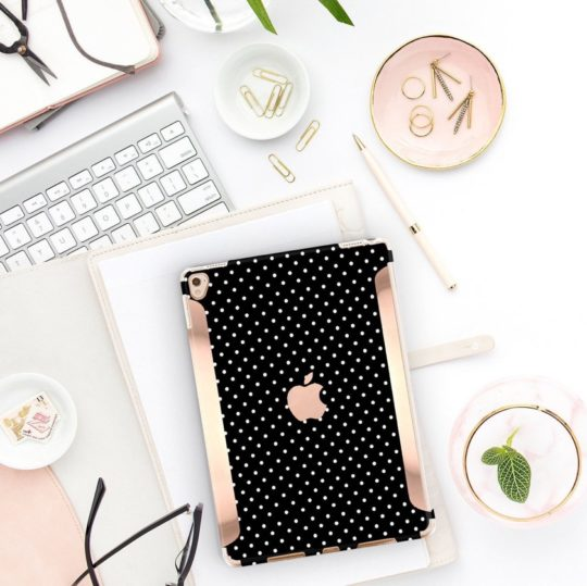 Rose Gold Polka Dot iPad case from Clique Shops
