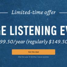 In a biggest Audible deal in years, you can get $50 off the annual membership