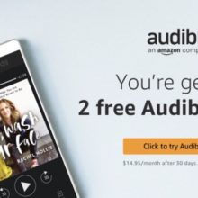 Subscribe to Audible via Amazon and save around 30 dollars