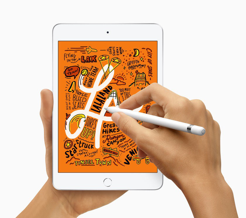The newest 7.9-inch iPad mini supports 1st-generation Apple Pencil