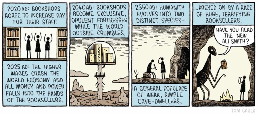 Booksellers of the future - cartoon by Tom Gauld