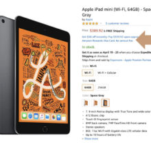 Buy iPad mini 5 on Amazon and save $50