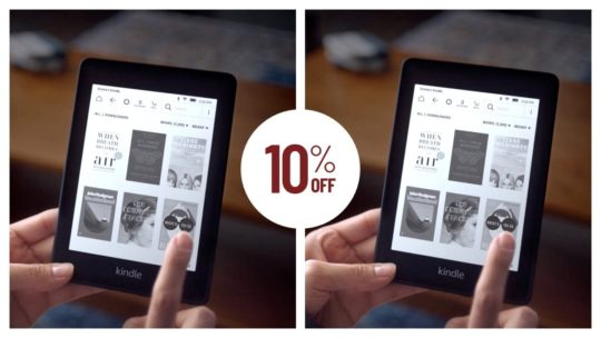 Buy two Kindle Paperwhite e-readers and save 10%