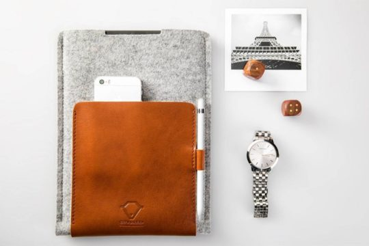 City Sheep Store iPad mini 5 leather and felt sleeve