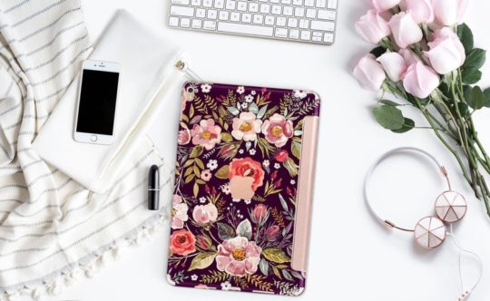Elegant Floral iPad Case from Clique Boutique