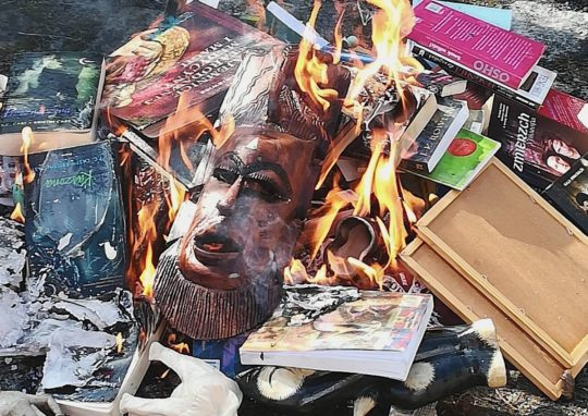 Harry Potter and other talismans burned in Poland in front of a Catholic Church