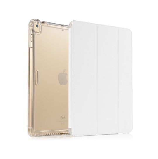 Heavy-duty transparent smart cover compatible with both iPad mini 5 and 4