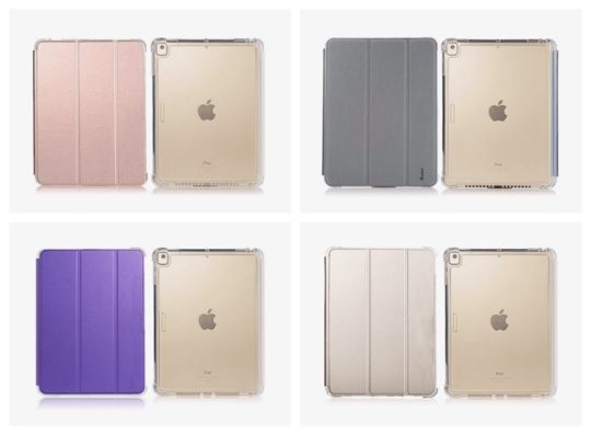 Heavy-duty transparent smart cover for iPad mini 5 and 4