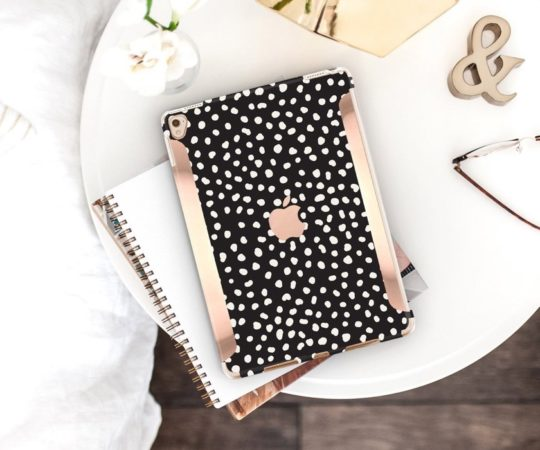 Hipster Black and Dots iPad Case from Clique Boutique