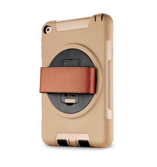 Kid-friendly shockproof rotating iPad mini kickstand case