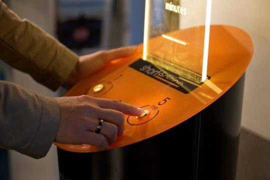 Short story vending machine lets you print the 1-, 3- or 5-minute story in an instant