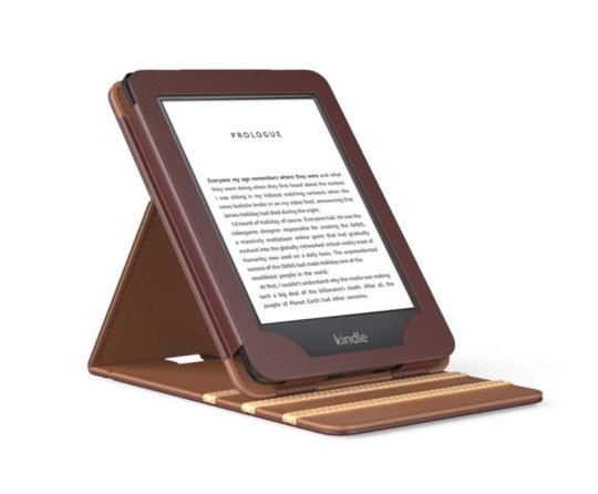 Vertical flip Kindle 2019 stand case