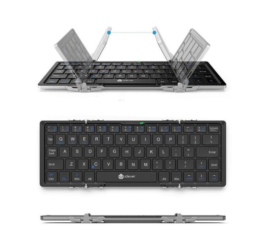 iClever universal foldable Bluetooth keyboard compatible with iPad mini 5