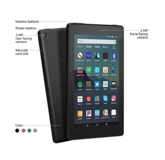 Amazon Fire 7 (2019 edition) - buttons and ports