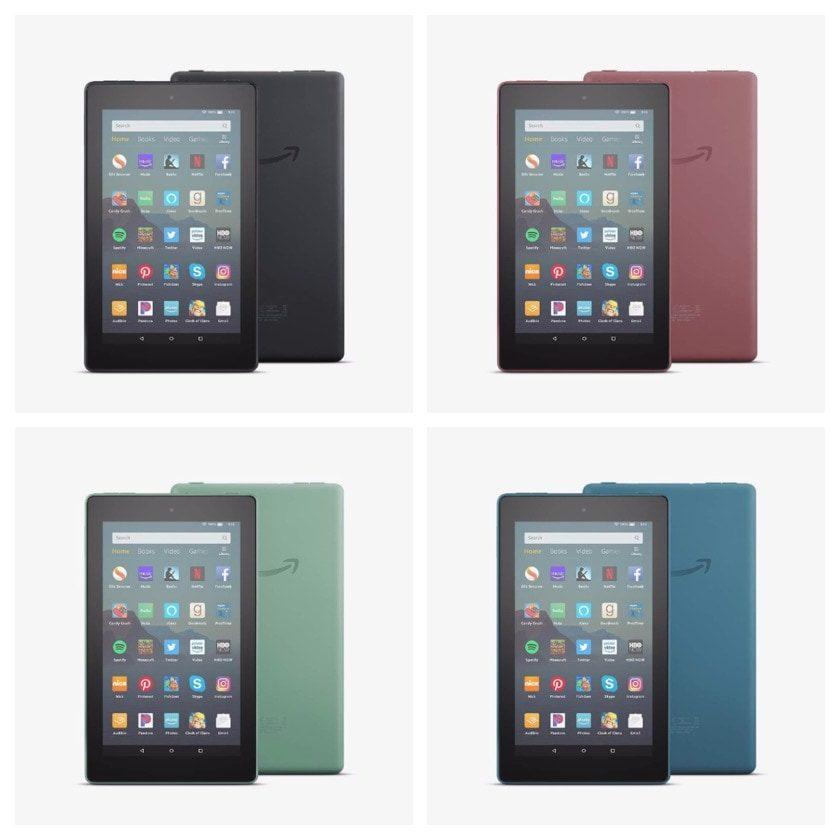Amazon Fire 7 2019 - color variants