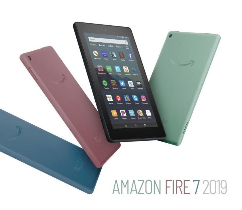 Amazon Fire 7 2019 - four color options