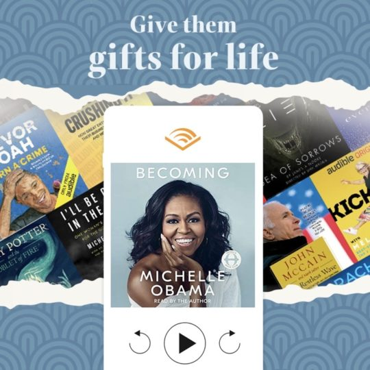 Audible membership gift plans - one of the best e-gift ideas