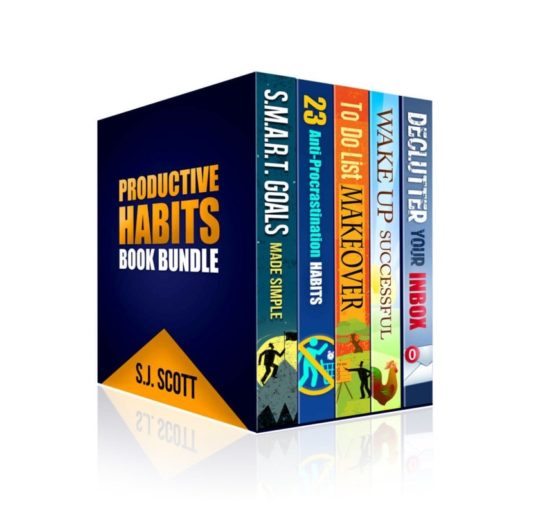 "Best digital gifts - ebook bundle by S.J. Scott ""Productive Habits Book Bundle"""