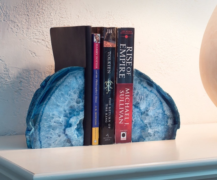 Best geode agate bookends