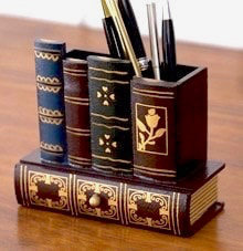 Best gifts for book lovers in 2019 - Library Books pencil holder organizer