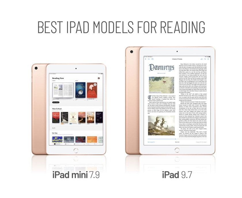 Two best Apple iPad models for reading