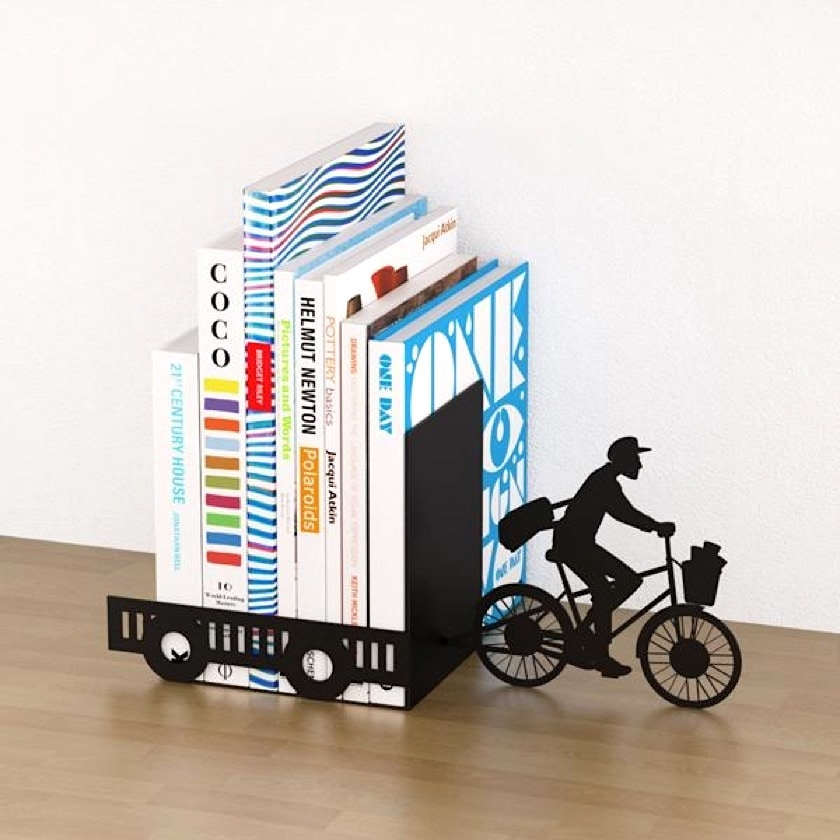 Bicycle bookmobile bookend