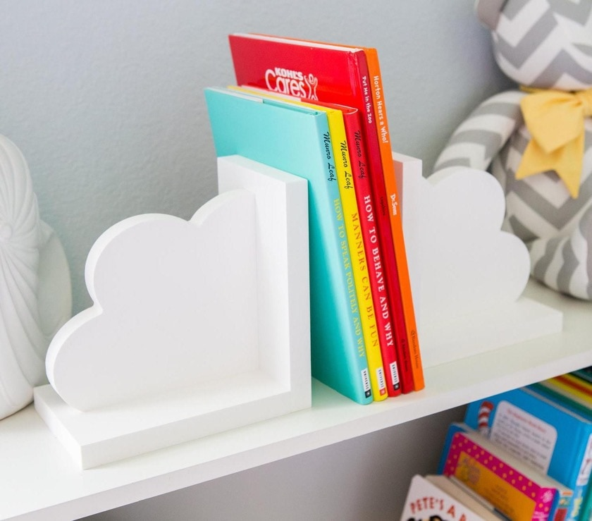 Cloud bookends for kids