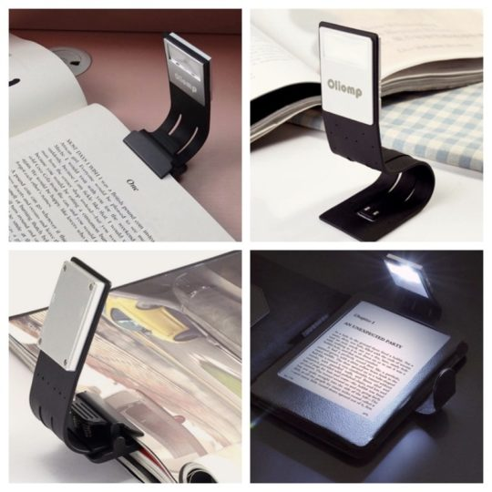 Flexible rechargeable reading light - best tech gift ideas 2019