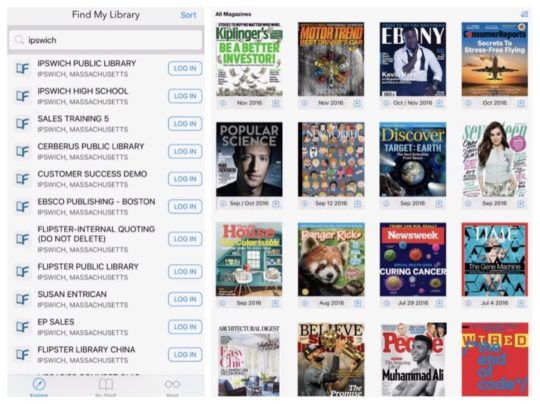 Flipster Digital Magazines app for iPad - borrow for free using your library card